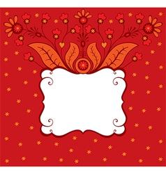Floral decorative card vector