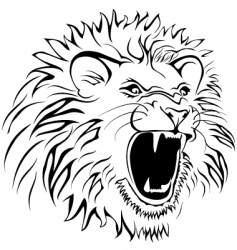 hungry lion vector image