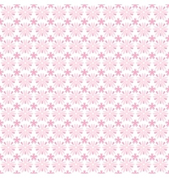 Light floral romantic pattern tiling vector image