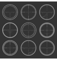 Sniper crosshairs set vector image vector image