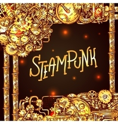 Steampunk style vector image vector image