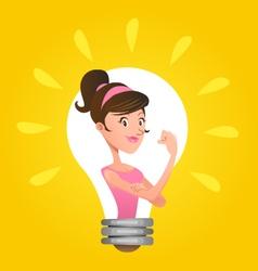 We Can Do It Woman Emancipation Idea vector image