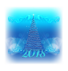 2018 christmas background vector image vector image