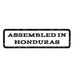 assembled in honduras watermark stamp vector image vector image