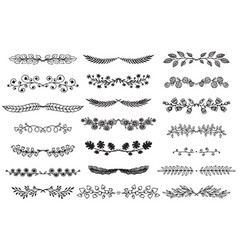 collection of hand drawn borders in sketch vector image