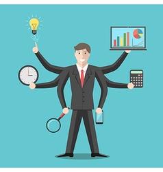 Effective competent leader multitasking vector image vector image