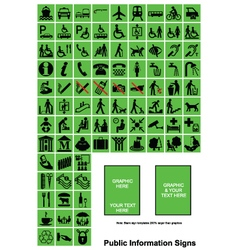 Green Public Information signs vector image vector image