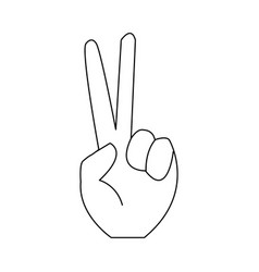 hand victory sign simple or peace gesture vector image