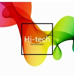 modern colorful hi-tech abstract background vector image
