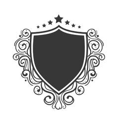 Shield ornament decoration vector