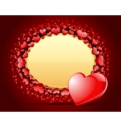 valentines heart frame vector image vector image