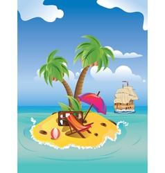 Cartoon Palm Island2 vector image
