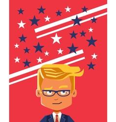 Image of cartoon businessman thinking making vector image