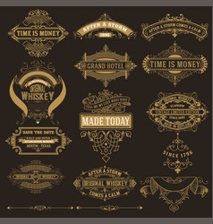mega set of banners and labels vector image vector image
