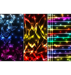 Mix of plasma banners vector image