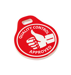 quality control approved vector image vector image
