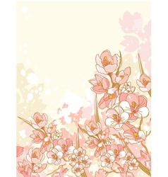 spring flowers design vector image vector image