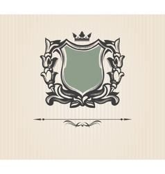 Vintage ornate shield vector image