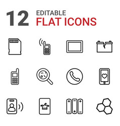 12 cell icons vector