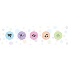5 favorite icons vector