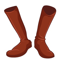 A pair of brown shoes vector