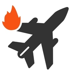 Airliner Fire Icon vector