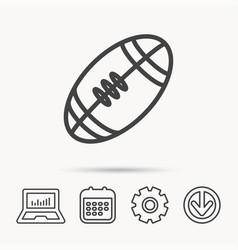 american football icon sport ball sign vector image