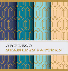 art deco seamless pattern 39 vector image