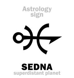 Astrology planet sedna vector