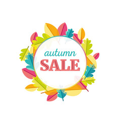 autumn leaves sale vector image