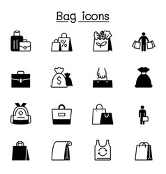 bag icons set graphic design vector image