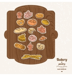 Bakery sketch set vector image
