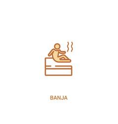 Banja concept 2 colored icon simple line element vector