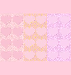 be my seamless pattern flying hearts and spirit vector image