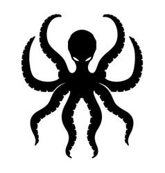Black octopus sign vector