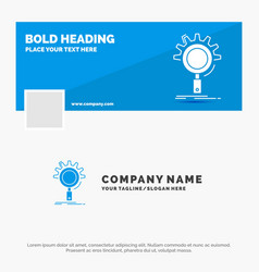 blue business logo template for seo search vector image