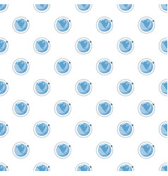 Blue earth and arrow pattern vector