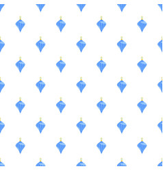 blue fir tree toy pattern seamless vector image