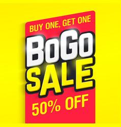 Bogo sale banner vector