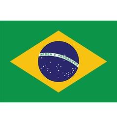 brazil flag background patriotic banner vector image