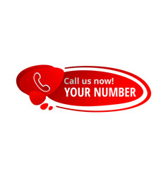 Call us now message in button vector