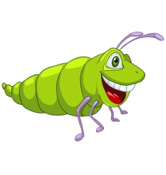 cartoon character caterpillar vector image