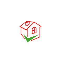 check home logo vector image