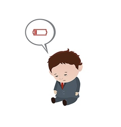 Chronic fatigue syndrome vector image