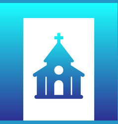 church catholic temple icon vector image