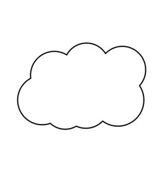 cloud weather sky day meteorology design vector image