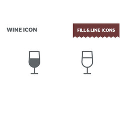 coctail icon fill and line flat design vector image