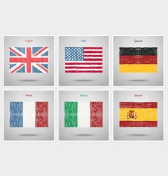 concept of travel or studying languages vector image