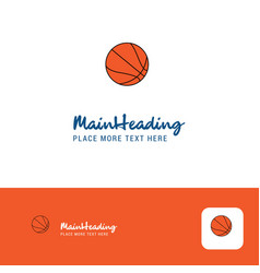 creative basketball logo design flat color logo vector image