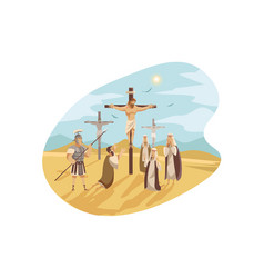crucifixion christ bible concept vector image